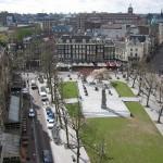 Aerial Rembrandtplein square