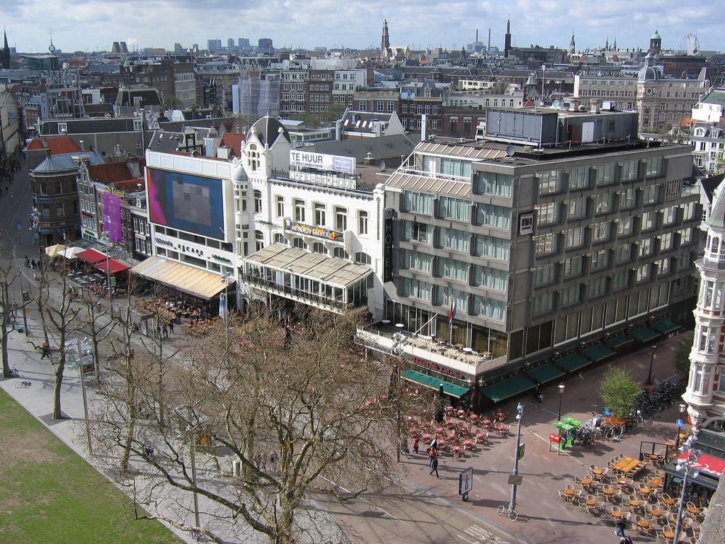Aerial Rembrandtplein Amsterdam Canal Cruise
