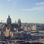 Amsterdam aerial from Skybar