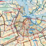 Public tranportation map of Amsterdam