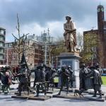 Statue Rembrandtplein square